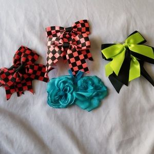 Bow and flower hair accessory bundle
